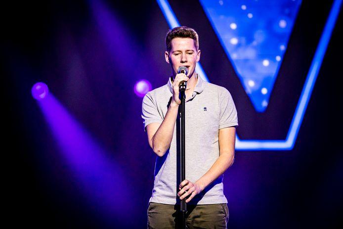 Sander Cauwelier uit Perk staat vrijdag voor de tweede keer op het podium van The Voice van Vlaanderen.