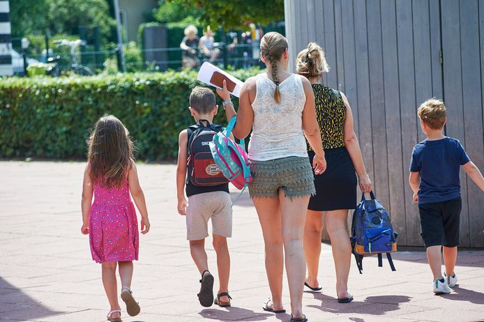 Basisschool De Evenaar te Oss gaat per direct dicht vanwege meerdere besmettingen met het coronavirus. De foto is eerder gemaakt.