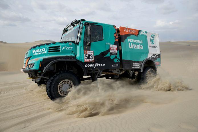 Gerard de Rooy in actie in de Dakar Rally 2019, voorlopig zijn laatste deelname aan de zwaarste woestijnrally ter wereld. Foto AP