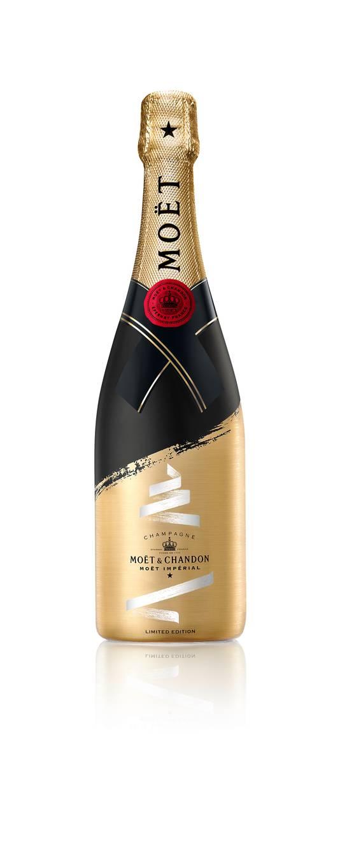 Moët & Chandon - Tie Your Wish - La bouteille festive est remplie du brut signature de la Maison. - Prix conseillé: 45 euros.