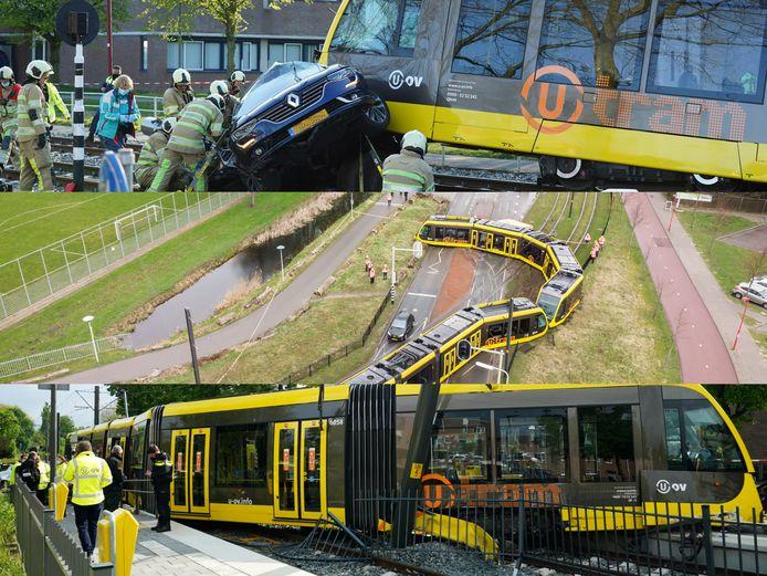 In korte tijd is drie keer een tram ontspoord in Utrecht en omgeving.