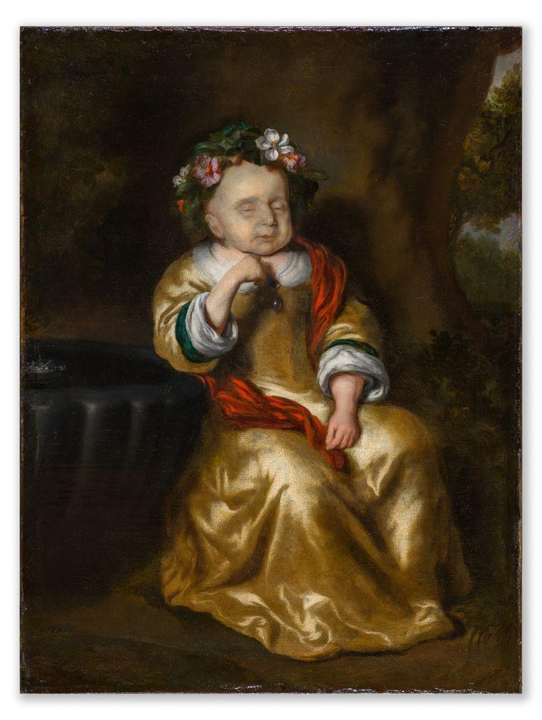 Het post-mortemportet van een meisje van Maes, aangekocht door Museum Tot Zover.  Beeld Peter Lange