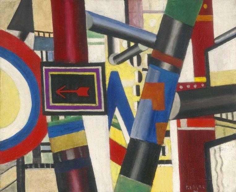 Ook op de expo in Brussel te zien: Fernand Léger, 'The Railway Crossing (Sketch)' (1919) Beeld The Art Institute of Chicago / Art Resource, NY/ Scala, Florence