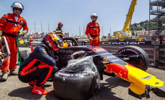 Max Verstappen na de crash van vorig jaar
