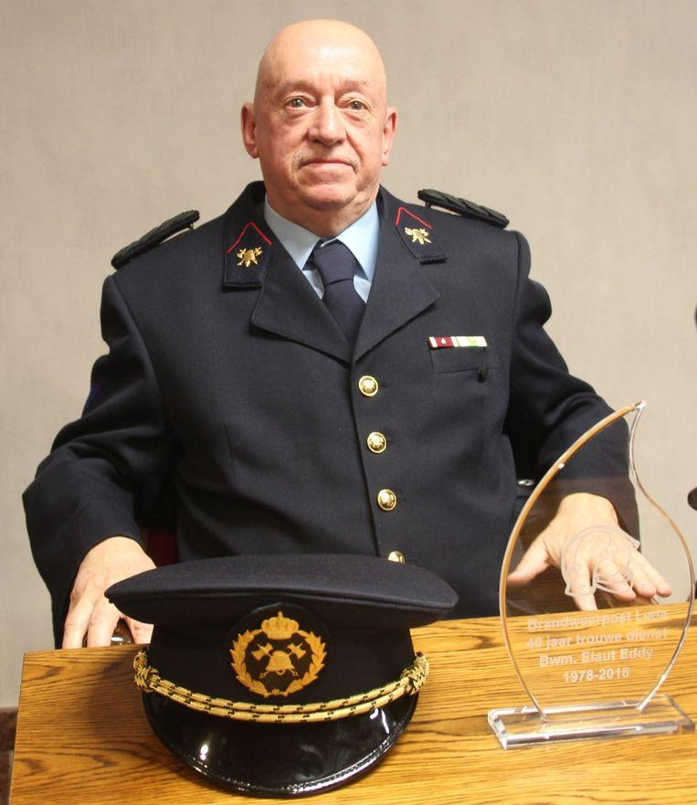 Brandweerman Eddy Elaut wordt door zijn collega's al lachend 'kolonel-chauffeur' genoemd.