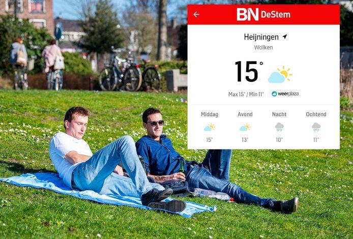 Kun je lekker naar buiten, of beter een uurtje wachten? Je leest het voortaan gedetailleerd in de BN DeStem-app.