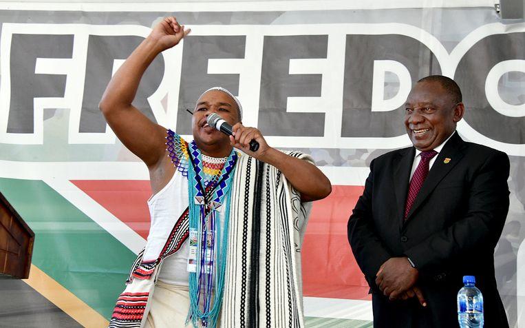 Cyril Ramaphosa volgde vorig jaar Jacob Zuma op, die in opspraak kwam door corruptieaanklachten. Beeld EPA