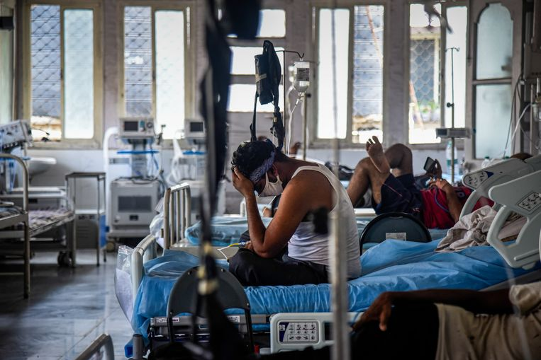 De toestanden in de Indiase ziekenhuizen, zoals hier in Mumbai, zijn mensonterend. Beeld Getty Images