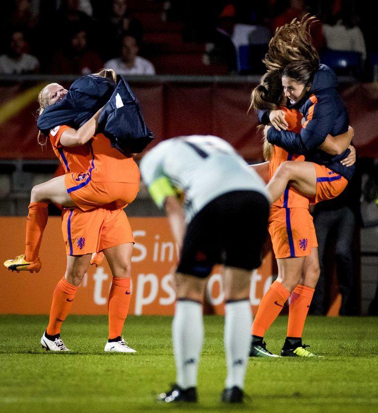België is met 1-2 verslagen, Nederland is groepswinnaar. Beeld anp