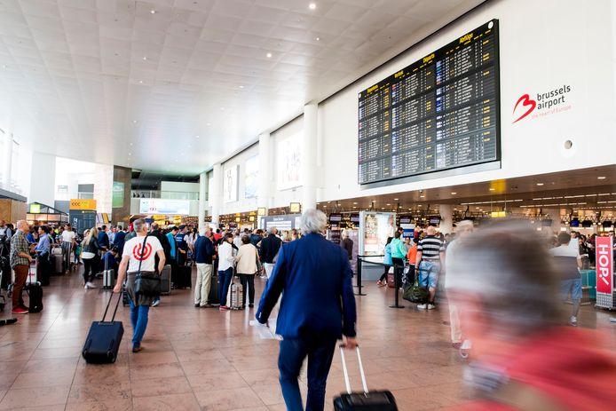 De vertrekhal van Brussels Airport.