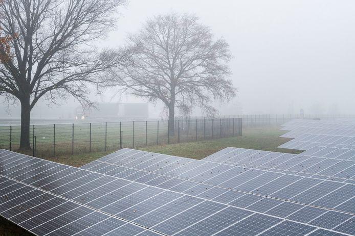 Ter illustratie een voorbeeld van een zonnepark elders in het land.