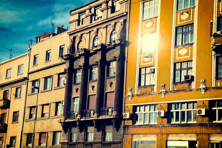 Straatbeeld van Belgrado. Beeld Colourbox
