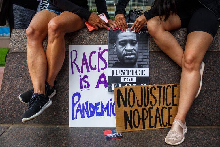 De dood van George Floyd leidde tot wereldwijde protesten tegen politiegeweld en racisme. Beeld Hollandse Hoogte / AFP