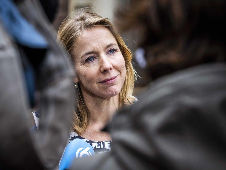 Vertrekkend staatssecretaris Stientje van Veldhoven.  Beeld ANP - Remko de Waal