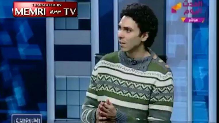 Mohammad Hashem was uitgenodigd in het programma om te praten over atheïsme, maar werd al snel onderbroken en weggestuurd.
