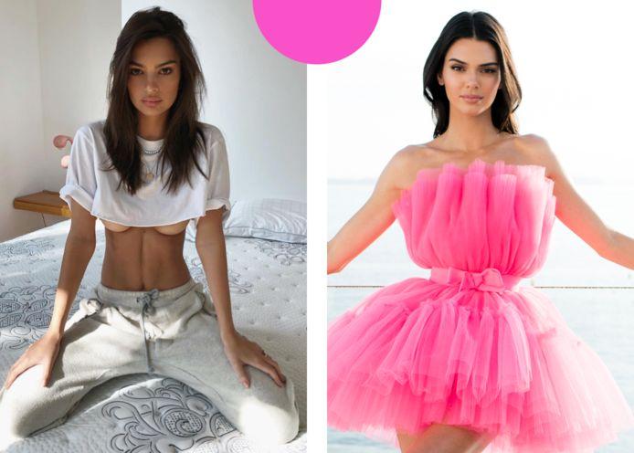 Emily Ratajkowski en Kendall Jenner lijken als twee druppels water op elkaar.