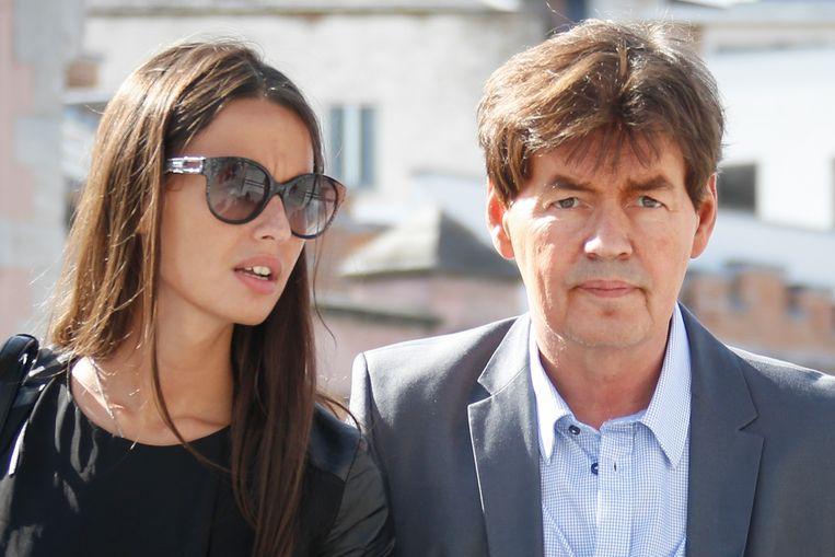 Bernard Wesphael met zijn dochter Saphia. Beeld BELGA