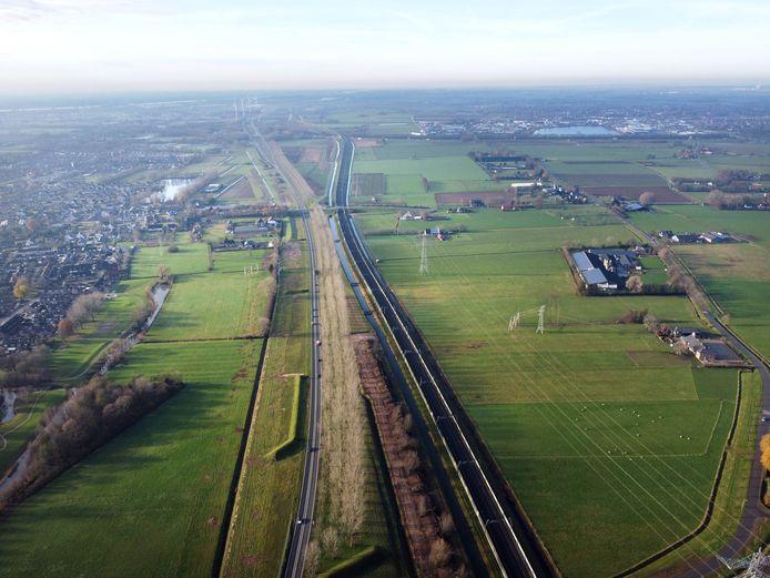 Ressen, de plek vanwaar de A15 doorgetrokken gaat worden hoogstwaarschijnlijk. Nijmegen, 19-12-2020 .