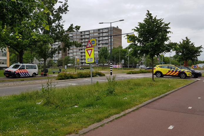 Maandag werd een man op een scootmobiel aangereden op het Nieuwlandplein.