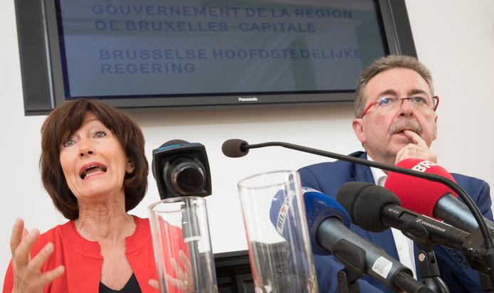 Laurette Onkelinx et Rudi Vervoort.