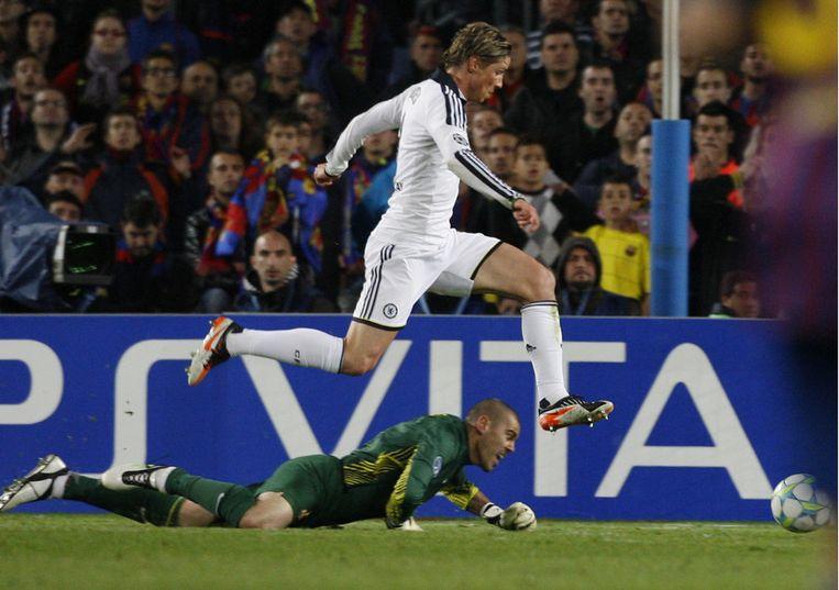 Torres nam in de slotminuut alle Barça-hoop weg met de 2-2. Beeld REUTERS