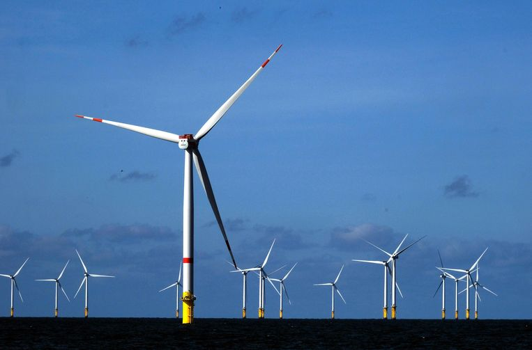 Illustration picture shows a visit to the Belgian Offshore Platform wind turbins parks (Northwind, C-Power, Rentel, Norther) at Belgian coast on North sea, Saturday 15 September 2018. BELGA PHOTO NICOLAS MAETERLINCK Beeld BELGA