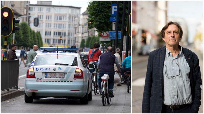 Ook politiewagens zullen op de Turnhoutsebaan geen fietsers meer mogen inhalen. Rechts: Dirk Lauwers