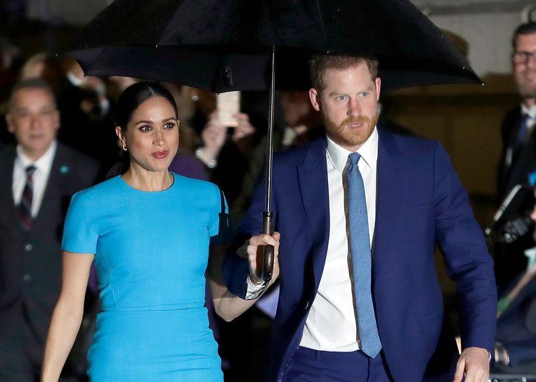 Meghan, de echtgenote van de Britse prins Harry in maart. Beeld AP