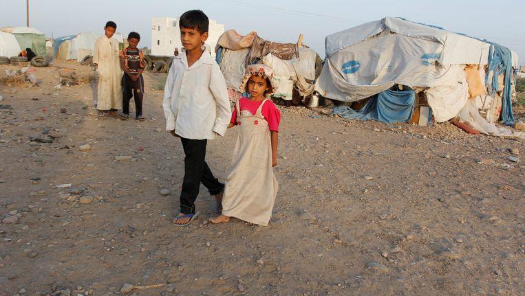vluchtelingenkamp in Houdida (Jemen) Beeld REUTERS