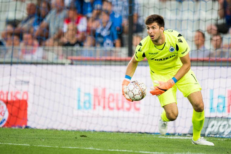 Karlo Letica hield in de tweede helft Club Brugge recht met een prima redding.