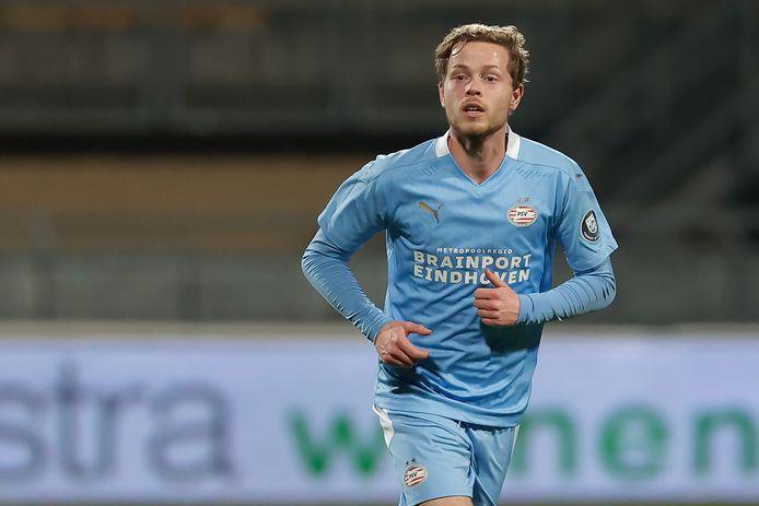 Dante Rigo won gisteren met Jong PSV van FC Den Bosch.
