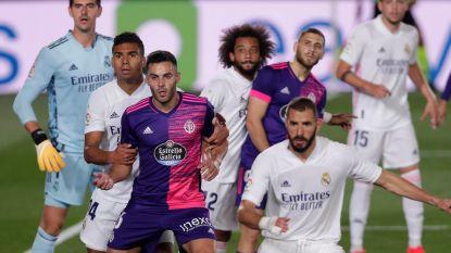 Uitblinker Thibaut Courtois wéér belangrijk is voor Real in zuinige zege tegen Valladolid