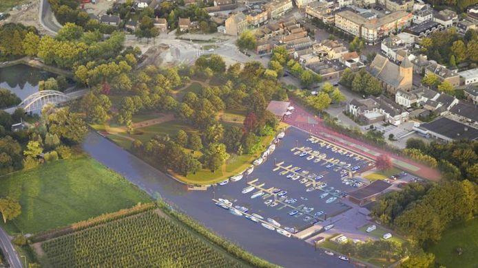 Het ontwerp voor de nieuwe jachthaven in Geldermalsen