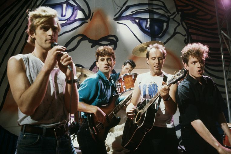 Een optreden van De Dijk tijdens het tv programma Snuiters, 12/11/1985  Beeld ANP / Hollandse Hoogte