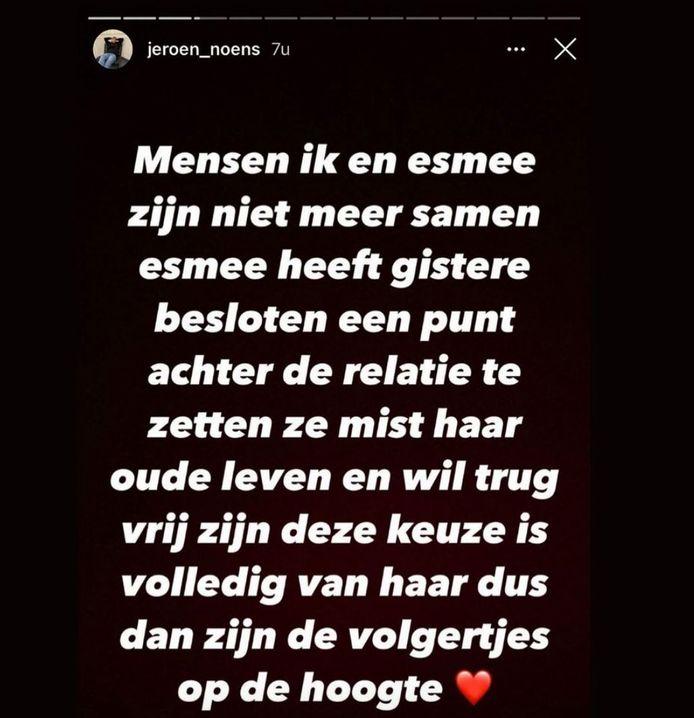 Jeroen, de ex van Esmee uit 'Ex on the Beach: Double Dutch'.