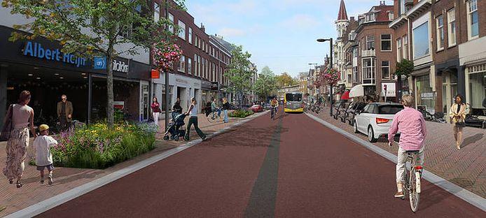 De straten worden een stuk breder en toegankelijker voor fietsers en voetgangers
