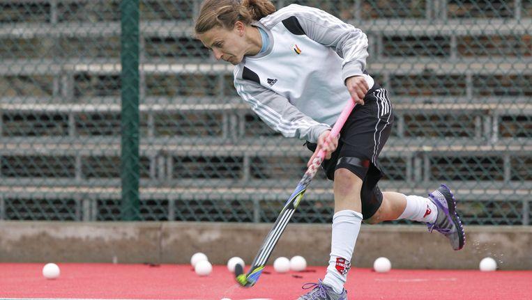 Sofie Gierts bracht België op voorsprong. Beeld BELGA