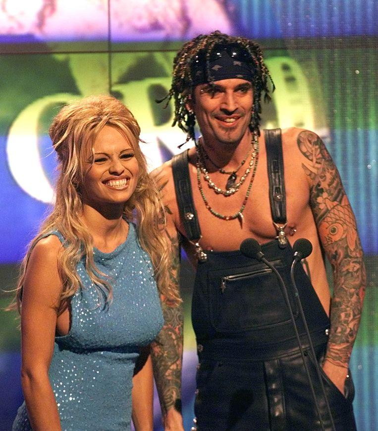 Pamela en Tommy Lee op de World Music Awards.