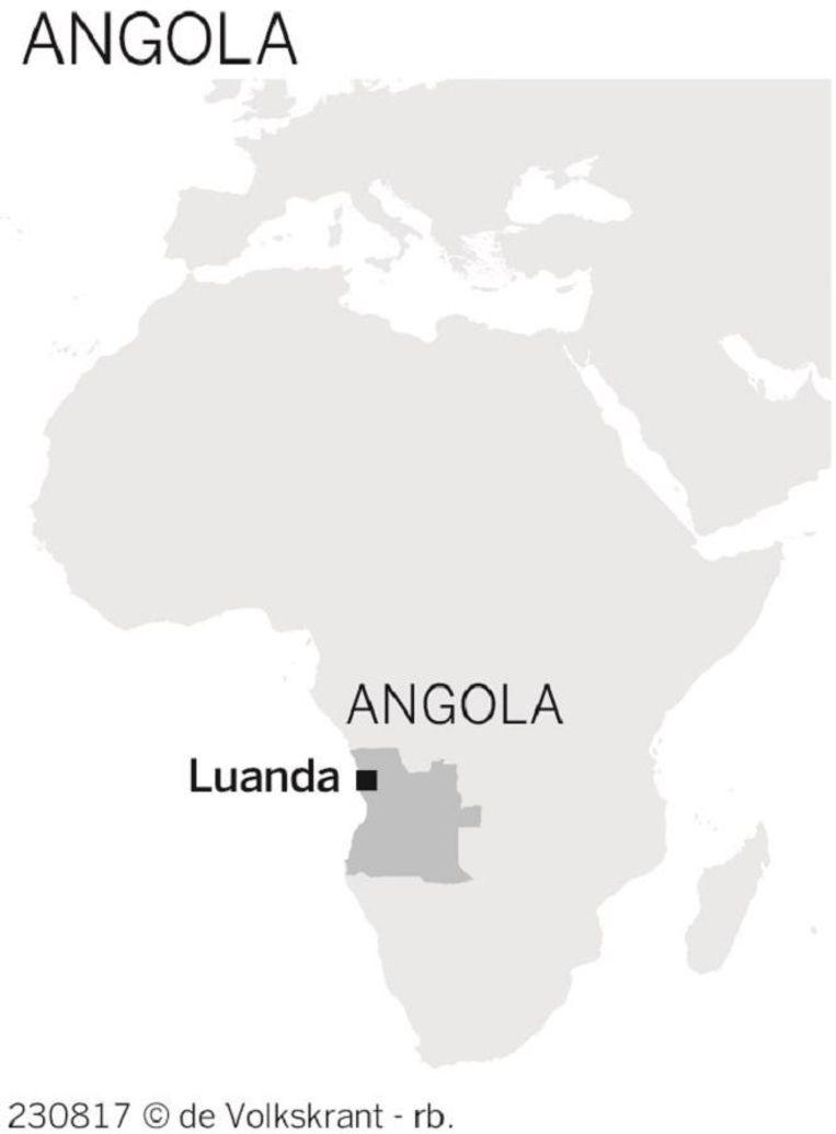 Kaart Angola Beeld rv