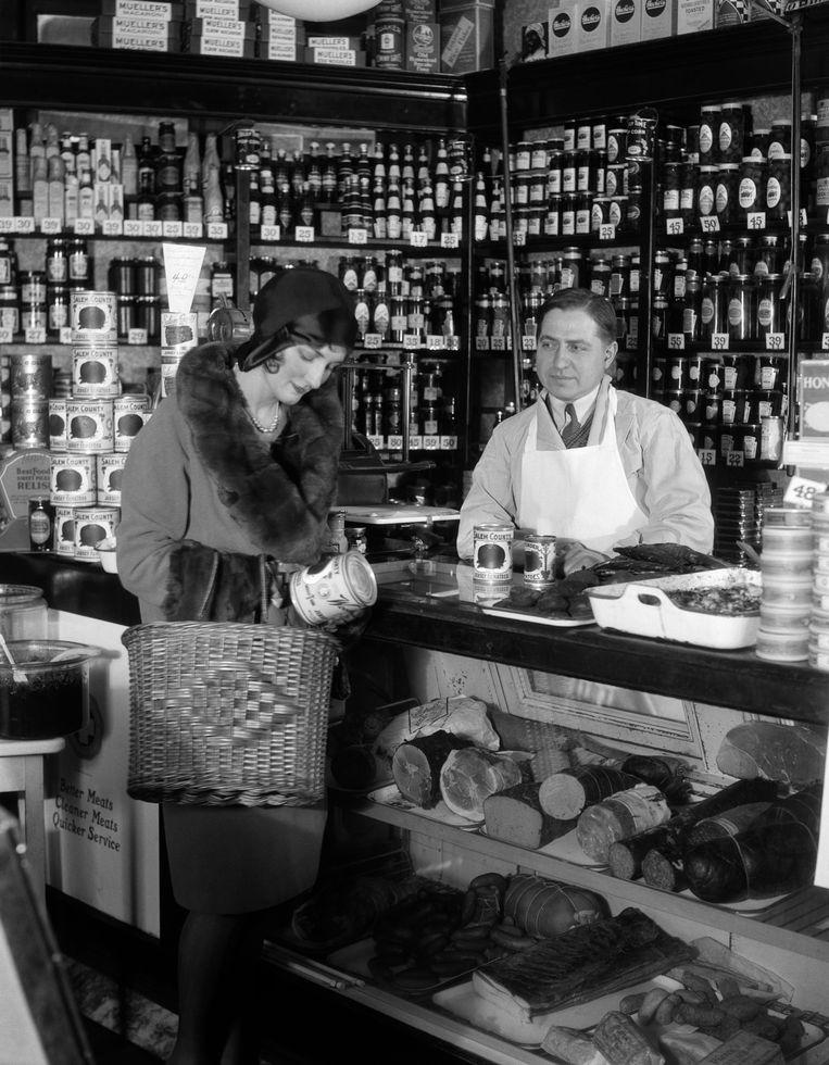 De 'supermarkt' van honderd jaar geleden. Beeld Getty
