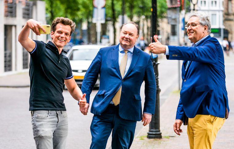 Henk Krol (R) en Henk Otten (M) in betere tijden. Beeld Freek van den Bergh / de Volkskrant