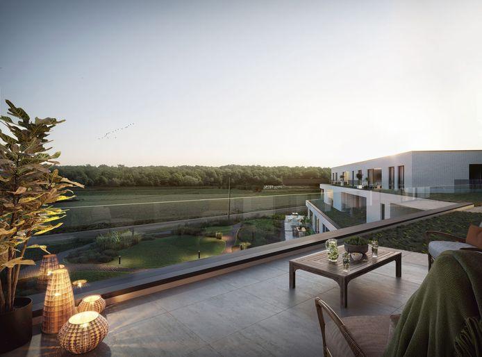 Alle appartementen beschikken over een zuidwestgericht terras, waardoor er heel de dag zon is.