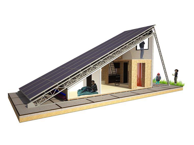 Een dak onder de zon. Beeld
