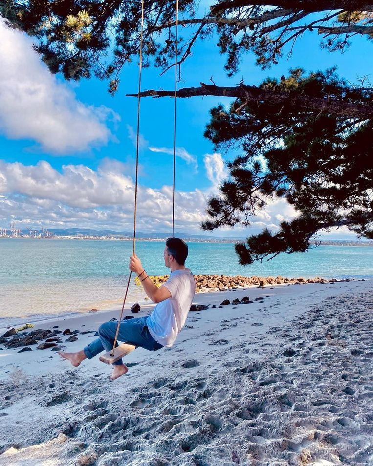 Boris Daenen geniet van de natuur in Nieuw-Zeeland: