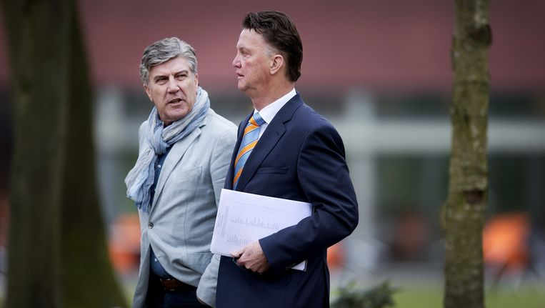 Cor Pot (L) en Louis van Gaal. Beeld ANP
