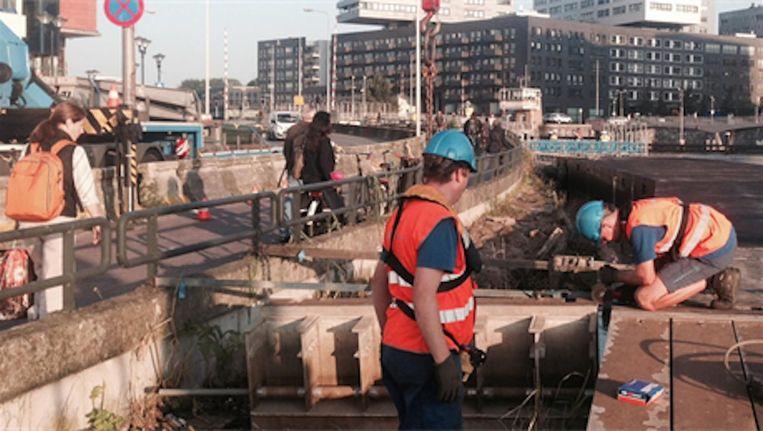 De eerste pontons werden afgelopen week geplaatst Beeld Gemeente Amsterdam