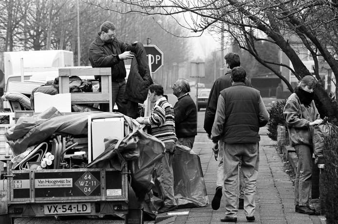 Evacuatie door het water in 1995.