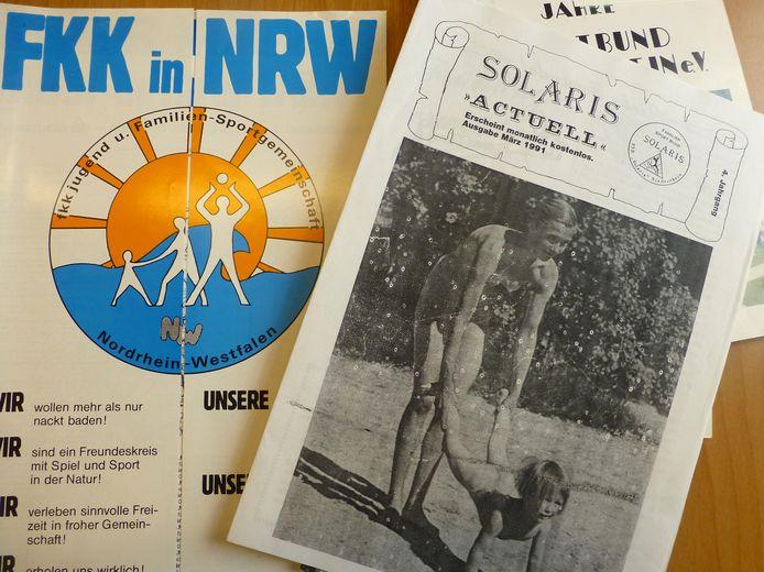De folders van de Familien Sportbund Niederrhein.
