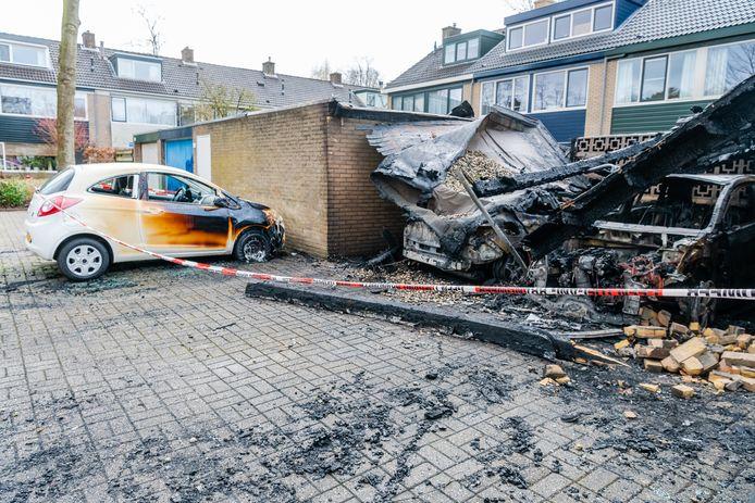 De schade na de eerste brandstichting in Zeist was enorm.