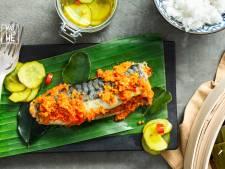 Wat Eten We Vandaag: Indische makreel met witte rijst en komkommersalade